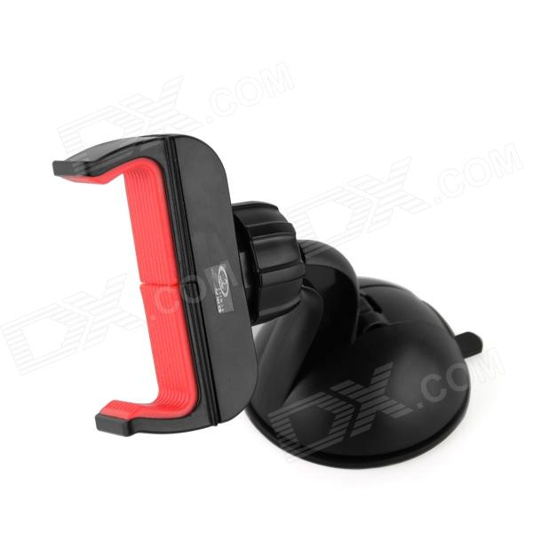 OUMILY 360' Rotation Car Suction Cup Stand Holder Mount Bracket for GPS / Cell Phone - Black + Red