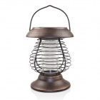 Outdoor Solar Powered 0.24W 4-LED Garden Yard Pest Insect Mosquito Killer Lamp - Bronze + Brown