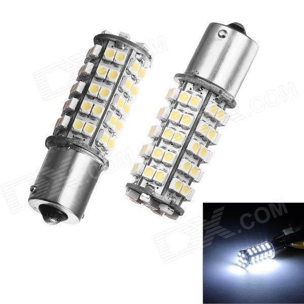 Merdia 1156 5W 68-SMD 1210 LED White Light Car Brake / Backup / Steering Lamps (Pair / 12V) h1 4w 220lm 68 smd 1210 led warm white light car foglight headlamp tail light 12v