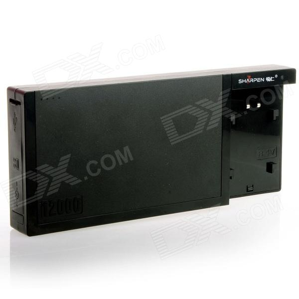 SHARPEN 12000mAh Power Supply Battery w/ Holder for Canon 5D Mark II/5D Mark III/60D/60Da/7D/6D