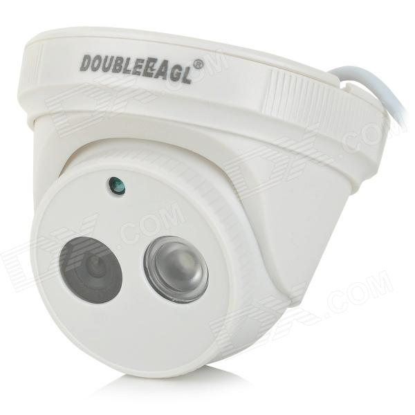 "DOUBLEEAGL L328 1/3"" CMOS 2.0MP HD digitale videokamera med 1-IR-LED - hvit"