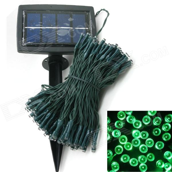 LIWEEK Solar Powered 200-LED verde Navidad fiesta boda decoración String Light - Green (3V / 20.5M)