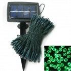 LIWEEK Solar Powered 200-LED Green Xmas Party Wedding Decor String Light - Green (3V / 20.5M)