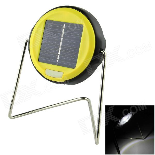 360 Degrees Rotatable Solar Powered LED Task Light w/ Bracket - Black + Yellow