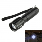 Adjustable Focus Zooming 180lm 3-Mode White Flashlight w/ Cree XR-E Q5 - Black (1 x 18650)