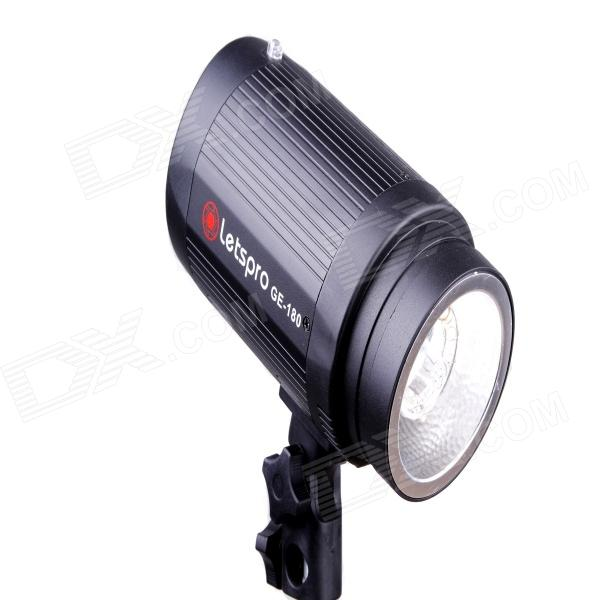 Letspro GE-180 180W 5500K Studio Light - Black (AC180-220V) letspro ge 180 180w 5500k studio light black ac180 220v