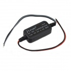 Jtron 03100655 DC 12V to 5V Vehicle Power Converter w/ Cable - Black