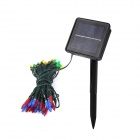 CIS-57455 Solar Powered 50-LED White Xmas Party Wedding Decor String Light - Black (3.2V / 7.5M)