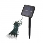 CIS-57456 Solar Powered 50-LED White Xmas Party Wedding Decor String Light - Black (3.2V / 7.5M)