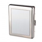 Aluminium Alloy Clamshell Double-Sided Cigarette Case - Sliver