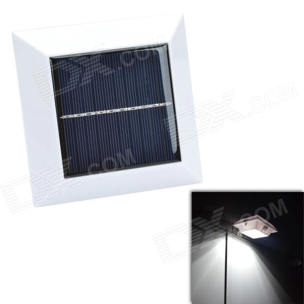 CMI YH0416A-PIR 2W 150lm 7000K 4-LED Cool White Waterproof Solar Human Body Induction Lamp - White cmi 5w 40lm 3500k 3 led light control pir control warm white solar wall lamp silvery white 12v
