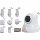 "HUANSO CT868W Smart Home System 1/4"" CMOS 1.0MP IP Camera w/ 10-IR-LED / Wi-Fi - White (PAL / NTSC)"