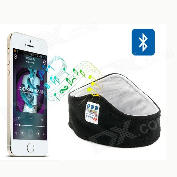Sport Bluetooth Fleece pannebånd med mikrofon - Black + grå
