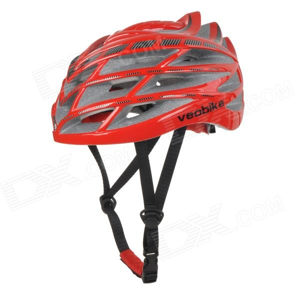 VEOBIKE TK-V01 Mountain Cycling Large Size 29-Hole Bike Bicycle PC + ESP Safety Helmet - Red