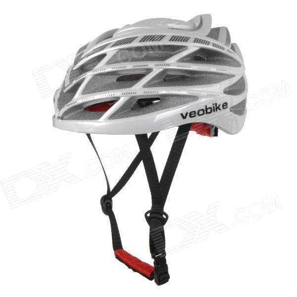 VEOBIKE TK-V01 Mountain Cycling Large Size 29-Hole Bike Bicycle PC + ESP Safety Helmet - White