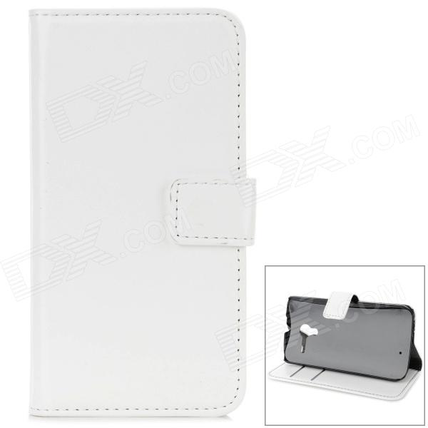 Protective PU Leather Case for Moto X - White