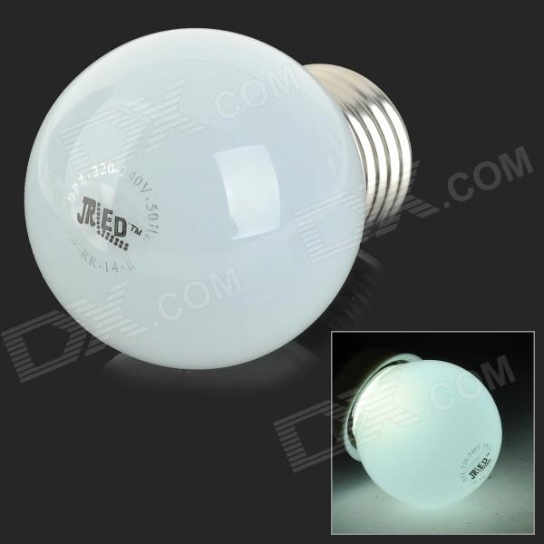 JRLED E27 3W 200lm 6300K 10-SMD 2835 LED White Light Bulb - White + Silver (AC 220~240V)