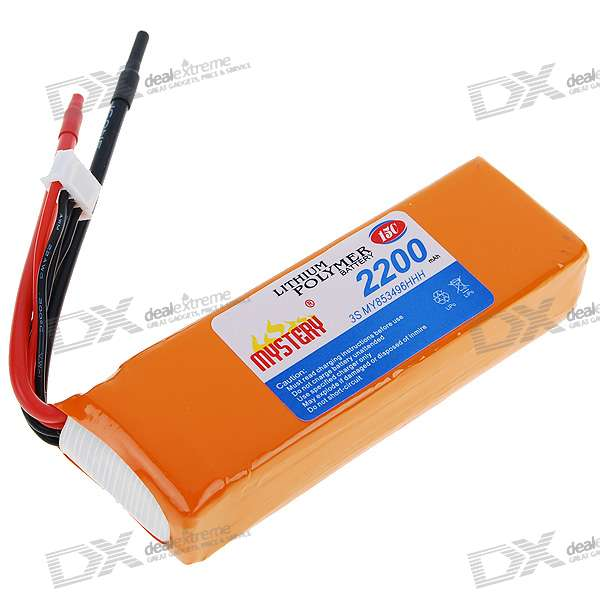 Mystery 11.1V 2200mah 15C Li-Polymer Battery Pack for 450 R/C Helicopters