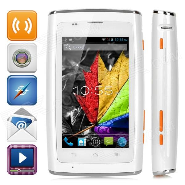 VVE i18 Dual-core Android 4.1 WCDMA 3G Smart Projection Phone w/ 5.0 Screen, Wi-Fi and GPS - White ноутбук dell inspiron 3565 15 6 amd a6 9200 2ггц 4гб 500гб amd radeon r4 dvd rw linux черный [3565 7713]