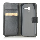 Protective PU Leather Case for Moto X - Black