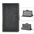 Protective PU Leather Case for Nokia Lumia 520 - Black