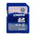 Kingston SD4/4GB SDHC Flash Memory Card - White + Blue (4GB / Class 4)