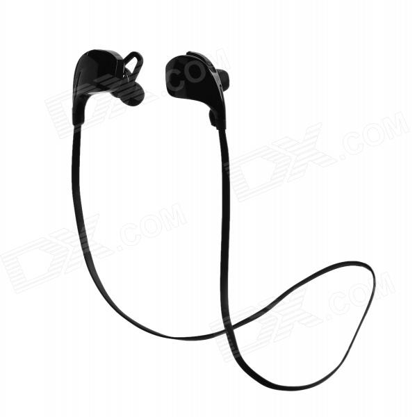 Cannice Muses1 Sports Wireless Bluetooth V4.0 Neckband Headphone w/ Microphone - Black