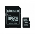 Kingston Digital SDC4/16GB microSDHC Flash Card with SD Adapter - White + Black (16GB / Class 4)