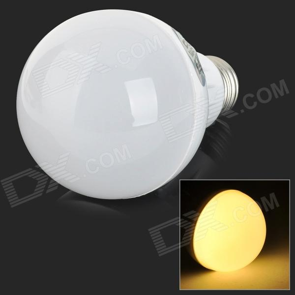 JRLED E27 7W 500lm 3300K 30-SMD 2835 LED Warm White Induction Bulb - White + Silver (AC 220V)