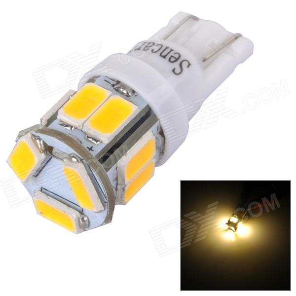 SENCART T10 3W 70lm 3500K 5730 SMD LED Warm White Light Lamp for Car / Motorcycle (DC 12~16V)