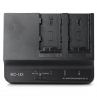 BC-U2 85W Dual Slot Battery Charging Dock for Sony F3K / EX260 / EX280 - Black (100~240V)