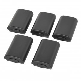 Battery Case Cover for XBOX 360 Wireless Controller - Black (5PCS)