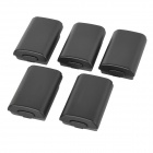 Replacement Battery Case Cover for XBOX 360 Wireless Controller - Black (5PCS)