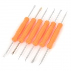 JAKEMY JM-201 Useful 6-in-1 Solder Assist Tools Set for PCB Repair Rework - Orange