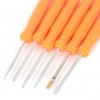 JAKEMY JM-Z01 Useful 6-in-1 Solder Assist Tools Set for PCB Repair Rework - Orange