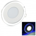 YouOKLight 7W 550lm 10-SMD 5730 LED Cool White 30-SMD 3528 LED Blue Panel Lamp - White (AC 100~240V)