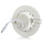 YouOKLight 7W 550lm 10-SMD 5730 LED Kul Hvit 30-SMD 3528 LED Blå Panel Lampe-Hvit (AC 100 ~ 240V)