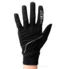 SAHOO 42890 Unisex Cycling Riding Warm Full Fingers Touch Screen Gloves - Black (XL / Pair)