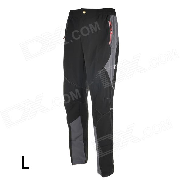 TOP CYCLING SAK605 Causal Breathable Quick-Dry Cycling Long Pants Trousers - Black (L) arsuxeo ar113 sports quick dry skinny seventh pants for cycling running black l