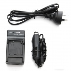 JUSTONE AHDBT-302/301/201 AU Plug Battery Power Adapter + Car Charger for GoPro Hero 3 / 3+ - Black
