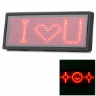 XP-1 Programmable Scrolling Red LED Name Message Advertising Tag Badge - Black + Red