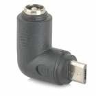 WB-08171 DC 5.5 x 2.1 Male to Micro USB Male Charging Adapter for Cell Phone + More - Black