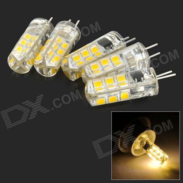 JRLED G4 2W 150lm 3300K 24-SMD 2835 LED Warm White Light Sources - Light Yellow (AC 220V / 5 PCS) sources