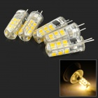 JRLED G4 2W 150lm 3300K 24-SMD 2835 LED Warm White Light Sources - Light Yellow (AC 220V / 5 PCS)