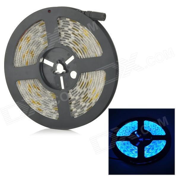 SENCART Waterproof 72W 3000lm 490nm 300-SMD 5050 LED Blue Light Strip - White (DC 12V / 5M) zdm waterproof 72w 200lm 470nm 300 smd 5050 led blue light strip white grey dc 12v 5m