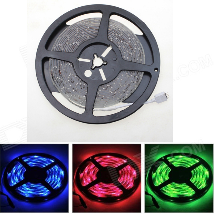 SENCART Waterproof 12W 900lm 300-SMD 3528 LED RGB Light Strip - White (DC 12V / 5M)