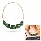 eQute PPEW31C8 Women's Classy Retro Style Zinc Alloy + Acrylic Pendant Necklace - Dark Green