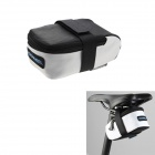 ROSWHEEL Rectangular Cycling Bicycle Saddle Seat Tail Bag - White + Black (Size M)