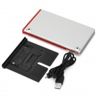 Ultra-Thin Folding Bluetooth v3.0 66-Key Keyboard for Samsung Tablet / IPAD - Red + White