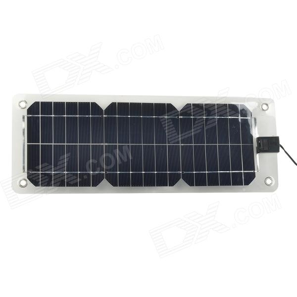 N1810 10W Monocrystalline Silicon Solar Panel Power Battery Charger - Black 50w 12v semi flexible monocrystalline silicon solar panel solar battery power generater for battery rv car boat aircraft tourism